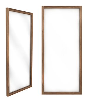 Light frame mirror